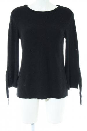 edc Strickpullover schwarz Business-Look