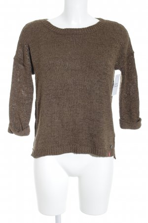 edc Strickpullover braun Casual-Look