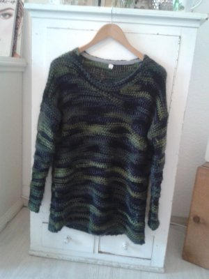 edc Knitted Sweater dark blue-olive green