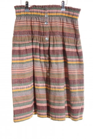 edc Knitted Skirt pink striped pattern casual look
