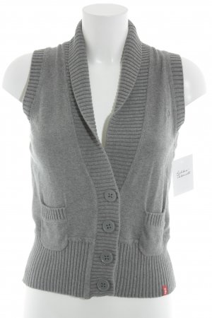 edc Strickweste grau Casual-Look