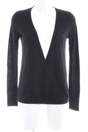 edc Knitted Wrap Cardigan black casual look