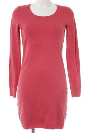 edc Vestido de tela de sudadera rojo claro look casual