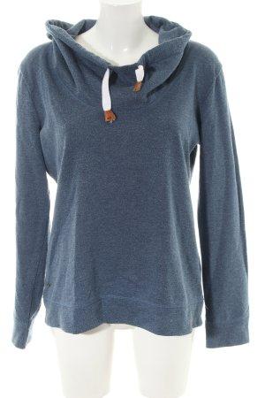 edc Sweatshirt blau meliert Casual-Look