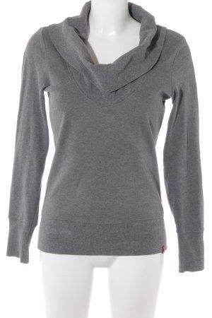 edc Sweatshirt grau Casual-Look