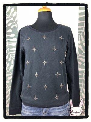 EDC Sweatshirt mit Perlenstickerei