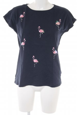 edc T-Shirt dunkelblau Motivdruck Casual-Look