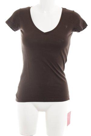 edc T-Shirt dunkelbraun Casual-Look