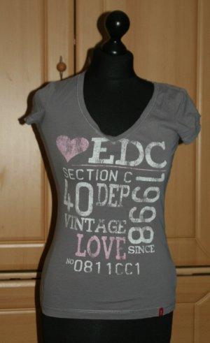 edc T-Shirt dunkelgrau Gr. 34/XS