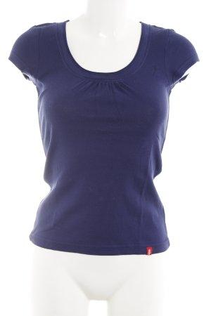 edc T-Shirt dunkelviolett Casual-Look