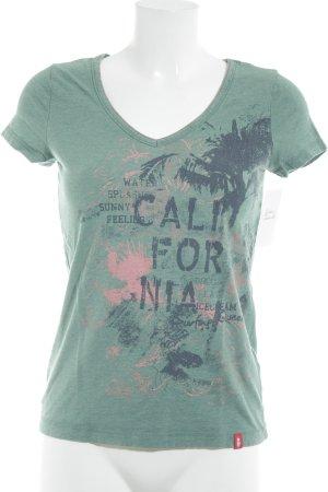 edc T-Shirt Motivdruck Beach-Look