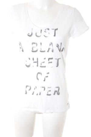 edc T-Shirt weiß Schriftzug gedruckt Street-Fashion-Look