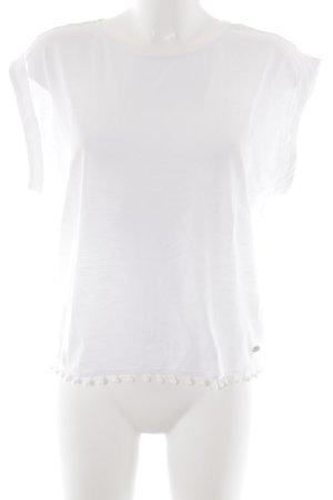 edc T-Shirt weiß sportlicher Stil