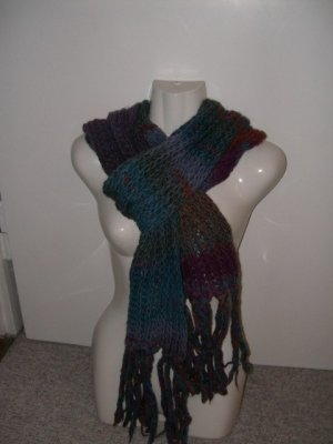 Esprit Knitted Scarf multicolored wool