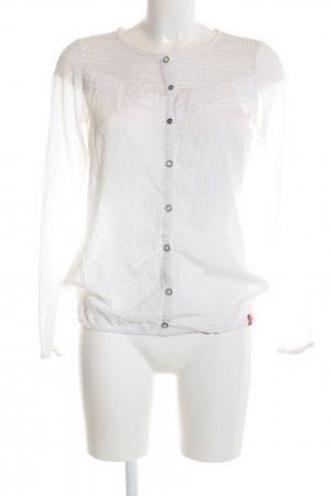 edc Transparenz-Bluse weiß Business-Look