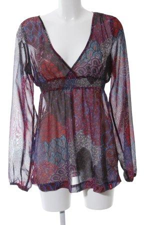 edc Transparenz-Bluse abstraktes Muster Elegant