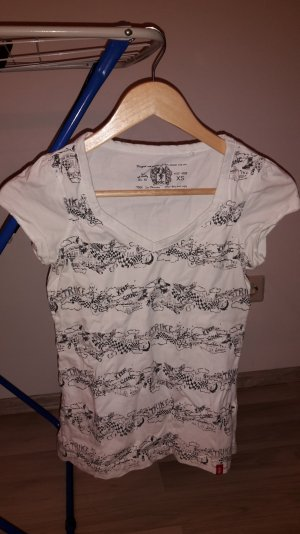 edc tshirt weiß schwarz gemustert