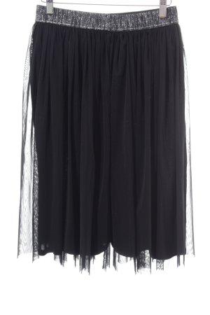 edc Tulle Skirt black wet-look