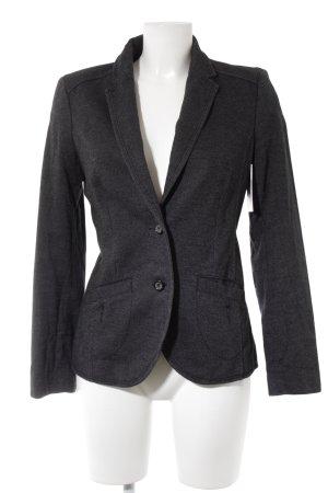 edc Tweed blazer donkerblauw gestippeld simpele stijl