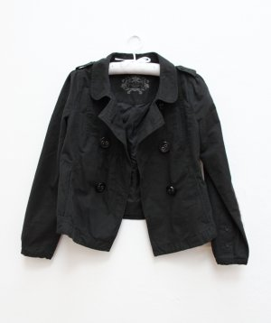 EDC Übergangsjacke Jacke in schwarz locker geschnitten Gr.S