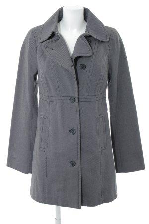 edc Übergangsmantel schwarz-grau Streifenmuster Casual-Look