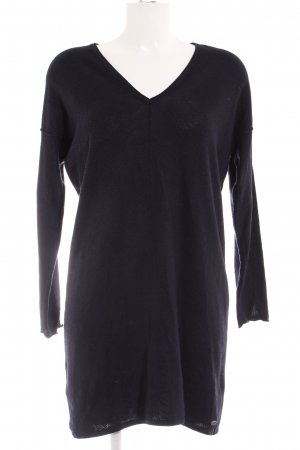 edc V-Ausschnitt-Pullover dunkelblau Casual-Look