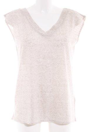 edc V-Ausschnitt-Shirt creme-wollweiß meliert Casual-Look