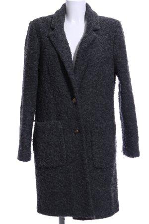 edc Abrigo de lana negro moteado look casual