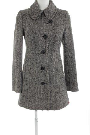 edc Abrigo de lana negro-blanco elegante