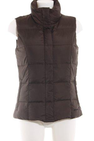 Eddie Bauer Down Vest brown quilting pattern casual look