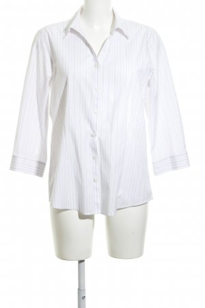 Eddie Bauer Camicia a maniche lunghe bianco motivo a righe stile professionale