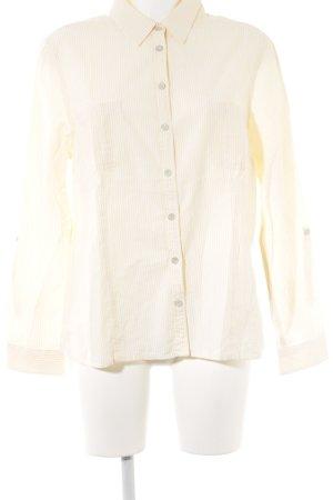 Eddie Bauer Langarmhemd weiß-dunkelgelb Streifenmuster Casual-Look