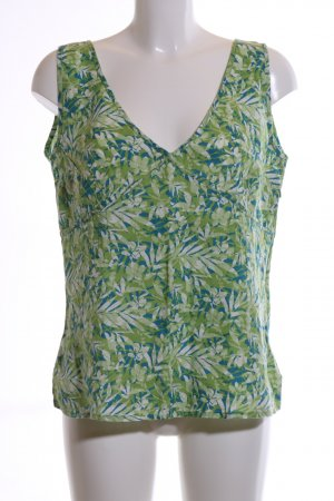 Eddie Bauer Linen Blouse flower pattern casual look