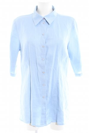 Eddie Bauer Linen Blouse blue casual look