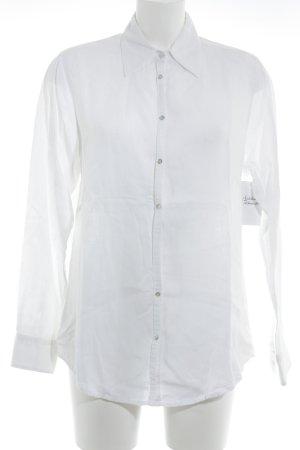 Eddie Bauer Blusa in lino bianco stile casual