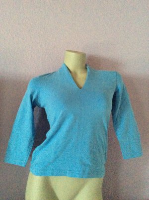 Eddie Bauer Empire Waist Shirt cornflower blue cotton