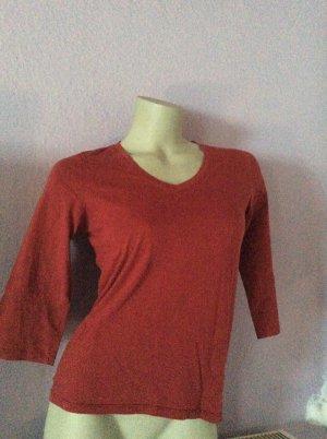 Eddie Bauer Shirt 3/4-Arm dunkelrot Agr. XS
