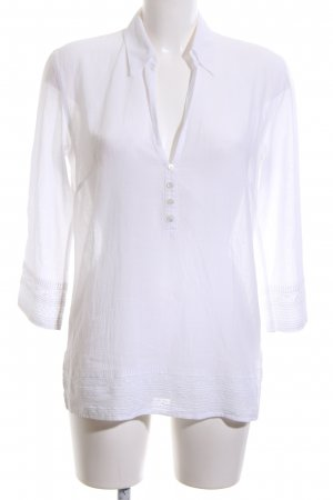 Eddie Bauer Transparent Blouse white business style