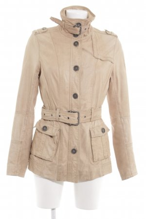 Eddy's Jackets Ledermantel creme Casual-Look