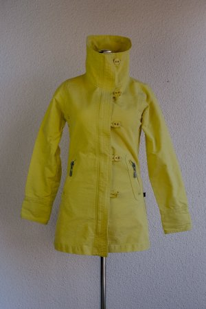 Abrigo de entretiempo amarillo neón-amarillo Algodón