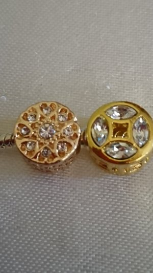 Charm white-gold-colored
