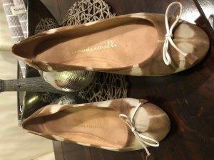 8 Ballerinas cream-beige leather