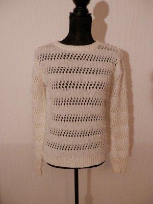 edel Blogger Strick Pullover Lochmuster Strickpullover Mohair Fashion Pulli