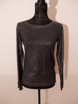 Edel Fashion Blogger Vila Pullover Silvester Shirt Pulli Metallic Glanz NEU