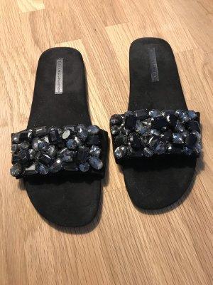 Edel Flip Flops, Slides, ausgefallen von ZARA, Gr 40