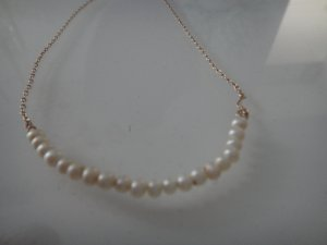 Collier Necklace white-gold-colored
