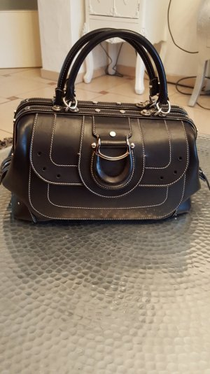 Edel Luxus Aigner Leder Doktorbag Damenhandtasche Schwarz LP 789