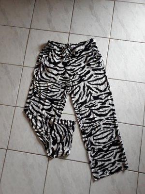 Yessica Pantalon blanc-noir viscose