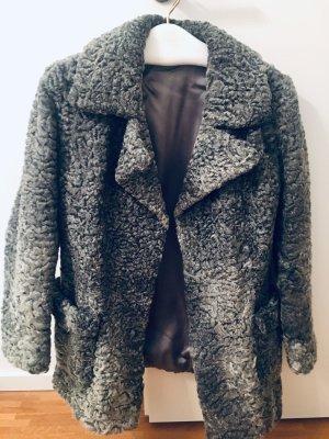 Cappotto corto grigio-grigio scuro