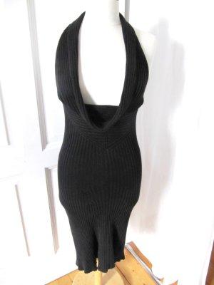 EDEL Strickkleid von Stefanel Kleid Schwarz Grobstrick Baumwolle